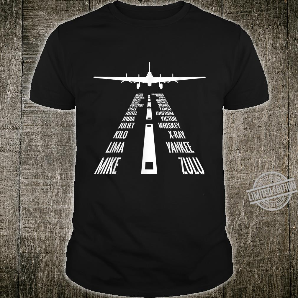 Flying B17 Flying Fortress Pilot Landing Phonetic Alphabet Shirt