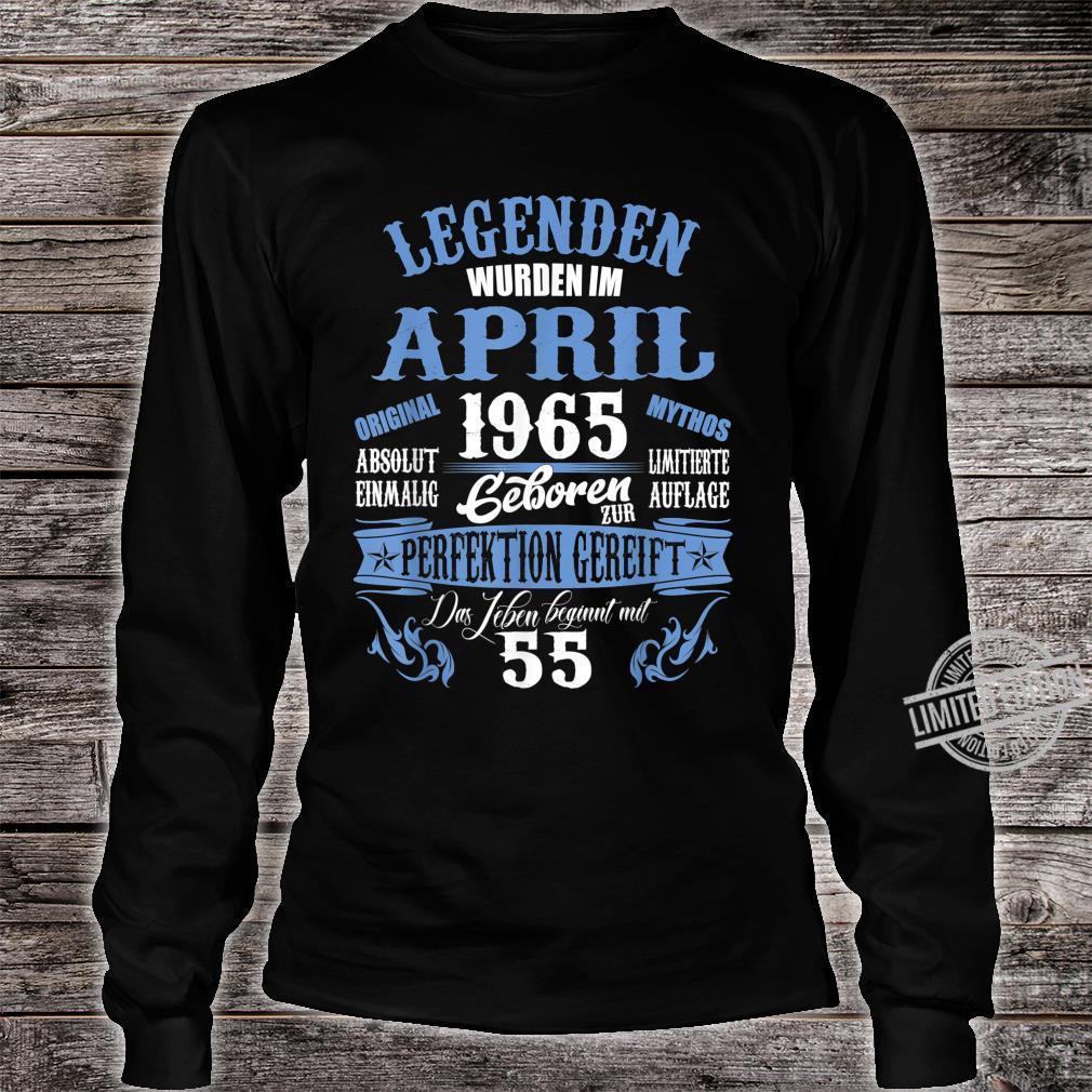 Retro 55 Jahre Jahrgang 1965 Limited Edition 55 Geburtstag Langarmshirt